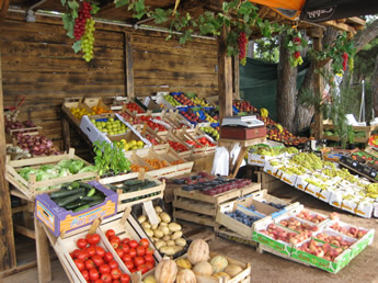 Marktstand in Kroatien