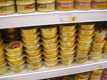 Pastete im Supermarkt
