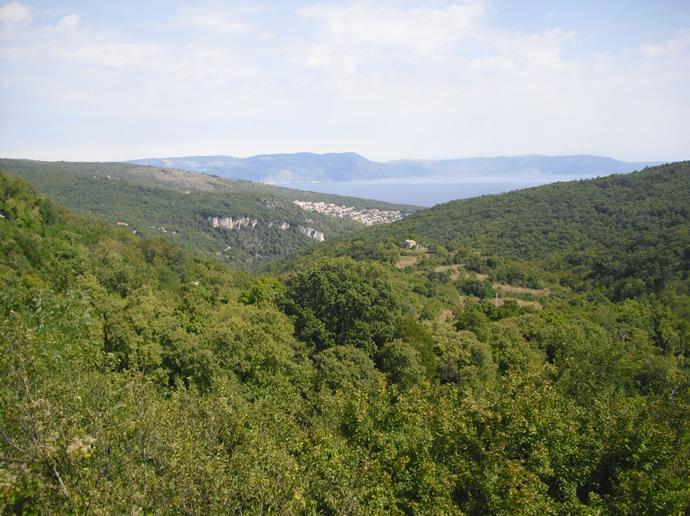 Blick auf die Adria Bucht