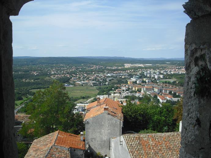 Blick über Labin vom Turm