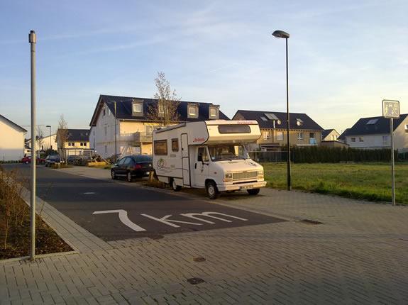 Unser Wohnmobil bereit zum Start