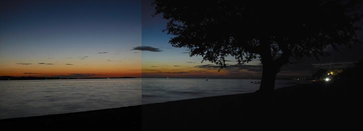 Abendrot am Strand von Fazana