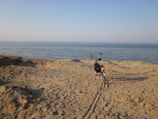 Ankunft am Meer, die Adria von Riccione