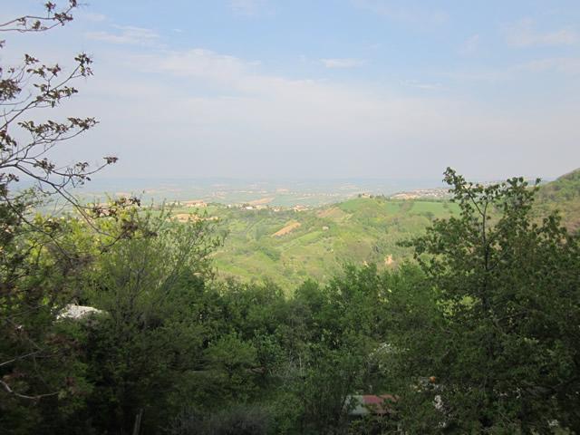 Der Ausblick über Italiens Hinterland