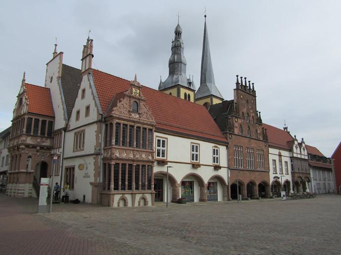 Marktplatz und Rathaus von Lemgo