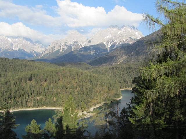 Die Zugspitze in den Alpen